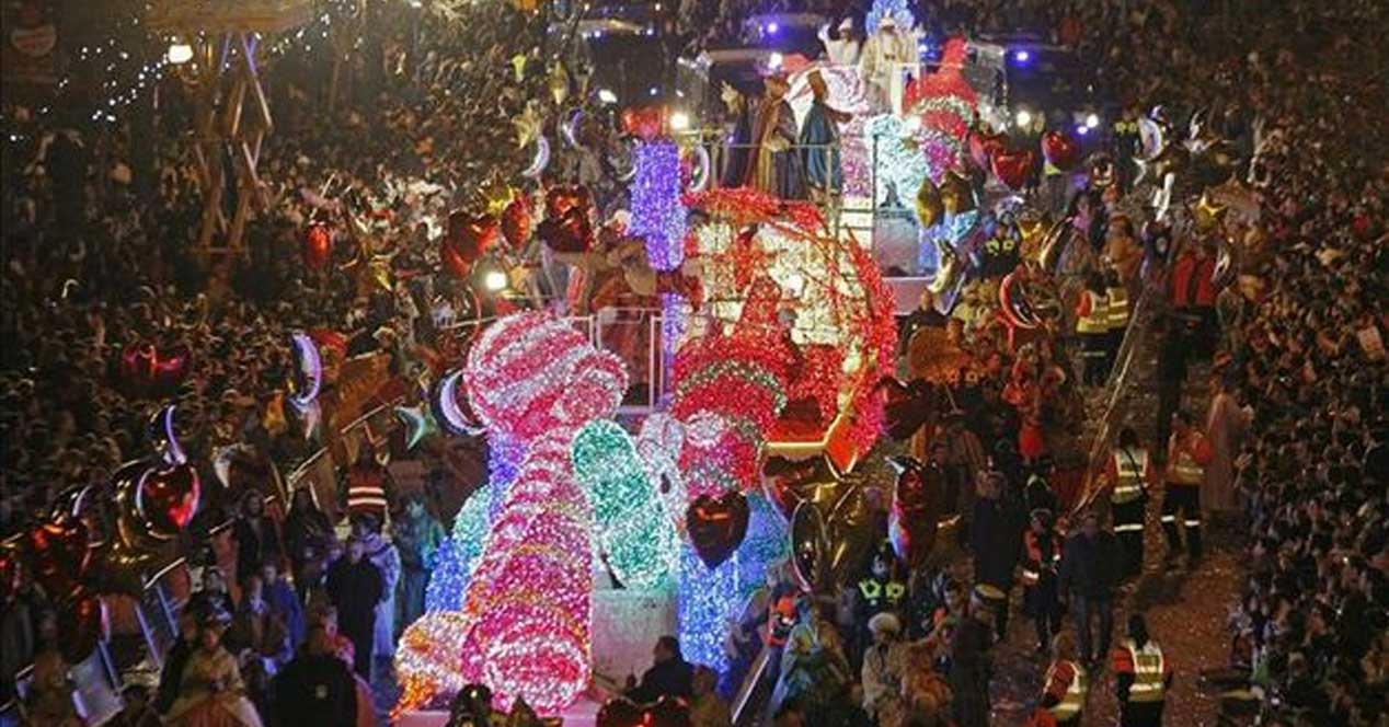 Lighted Float During Parade at Night