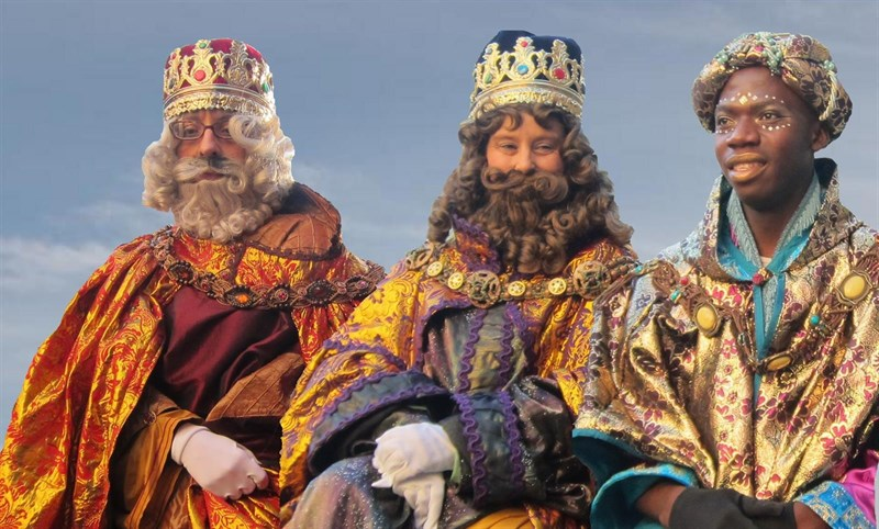 Men Costumed as Three Kings during Parade