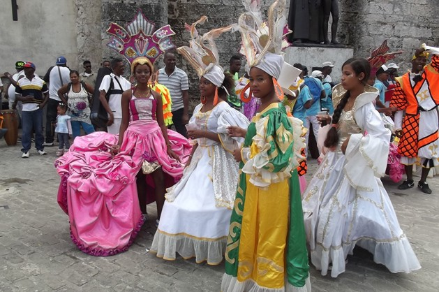 Young Women In Full Attire