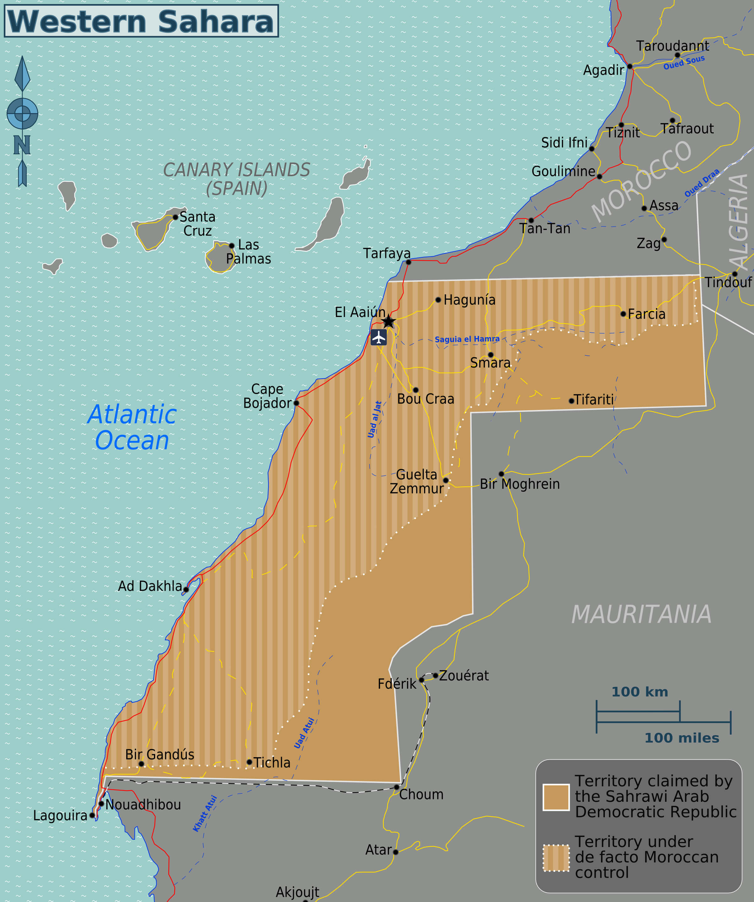 Map of North African Coastal Territory