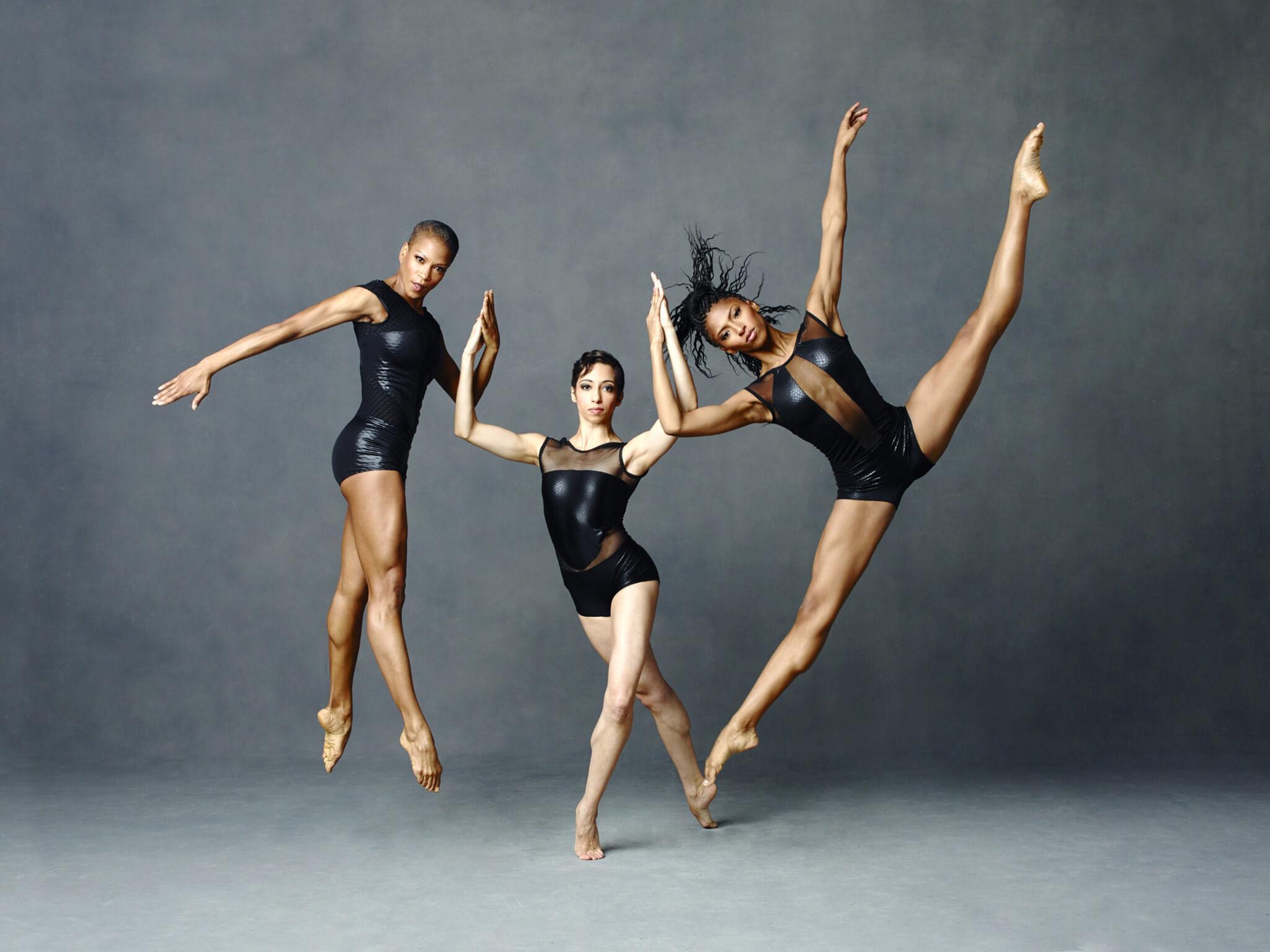 Trio of Female Dancers in Pose