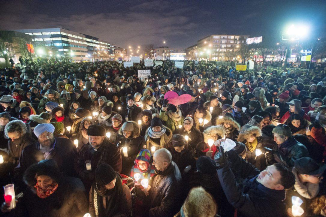 Gathering Holding Candles